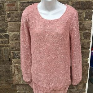 Jaclyn Smith Sequin Cozy Sweater